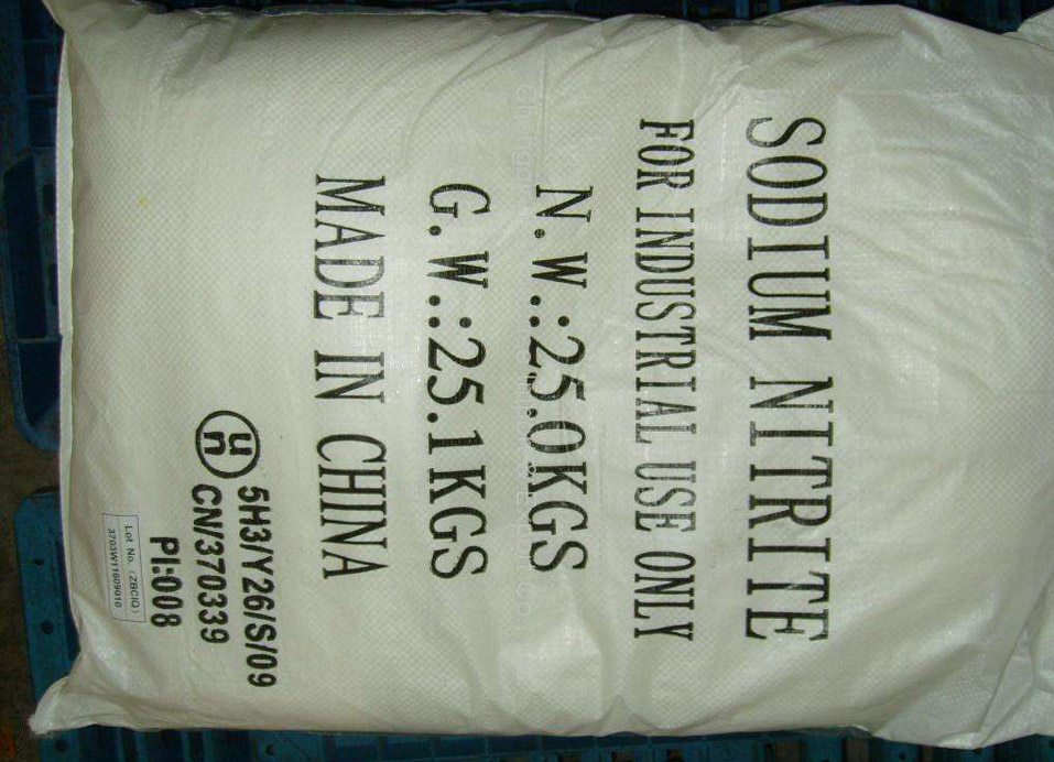 99% min Sodium nitrite for industrial uses
